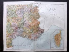 Gross 1920 Large Map. France - South East